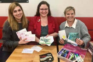 The Elanor Wilson Chapter wrote encouraging notes to those recently diagnosed with Breast Cancer through Girls Love Mail.
