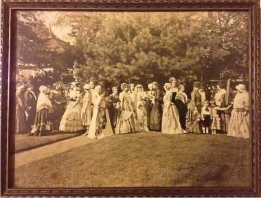 In 1926, the members of the Faith Trumbull Chapter, Norwich, CT., hosted a garden party at which the members dressed as former First Ladies.