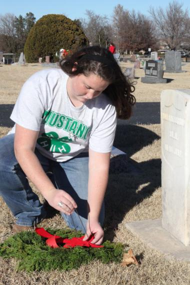 Grant Recipient, Patriotism Category: Fort Reno Chapter, NSDAR, Yukon, Okla. The project's primary focus is to promote respect and remembrance for veterans, both living and deceased, and to recognize the contributions and sacrifices by U.S. servicemen and servicewomen. By creating wreaths from Eastern Red Cedar trees that have been removed by local citizens, the project also provides a very real land and water conservation benefit to the area.