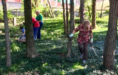 The General Francis Nash Chapter continued their nearly four-year stewardship of historic Owens-Moore Cemetery for #DARDayofService, maintaining the African-American cemetery including the graves of those born before emancipation. The chapter was able to clear weeds and brush, as well as add new granite markers to some graves that were previously only marked by rocks.