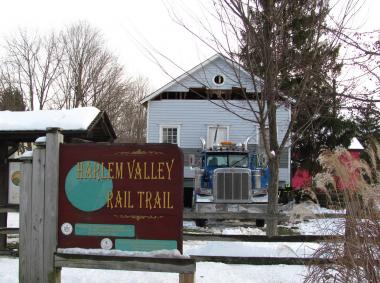 Grant Recipient, Historical Preservation Category: Friends of Irondale Schoolhouse, Millerton, N.Y. The new home for the 1858 Irondale Schoolhouse, located two miles away, is Village Millerton, at the head of the Harlem Valley Rail Trail, where it serves as the visitors' center. The schoolhouse's new home is well-placed and offers exhibit space and informational displays.
