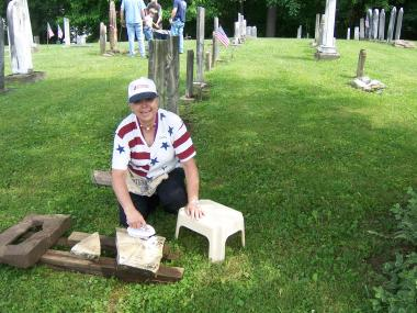 Grant Recipient, Historic Preservation Category: Granville Historical Society, Granville, Ohio An ongoing project since 1992, each summer, professional stone conservationists and local volunteers work to restore and preserve many of the historic headstones located within the Old Colony Burying Ground. A DAR grant was used to fund the 2013 summer session, during which 15 stones were completed.
