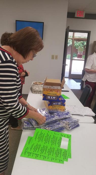 The Hermitage Chapter assembled goodies for Knight Road Elementary teachers in celebration of the upcoming American Education Week