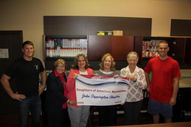 John Sappington Chapter, MO donated non-perishables to their local food bank