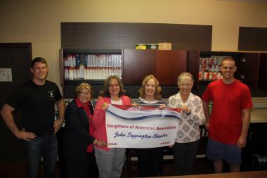 John Sappington Chapter, MO donated non-perishables to their local food bank