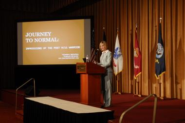 Grant Recipient, Education Category: Journey to Normal, Gibsonia, Pa. Journey to Normal, Inc. documents the story of women who have served in theaters of combat in Afghanistan and Iraq and presents those stories to the general public; prepares educational materials for service providers supporting women veterans; and preserves women veterans' stories in footage to be stored at historical archives. Photo credit: Maj. Karen Bogdan, USAF ANG 171 ARW/PA