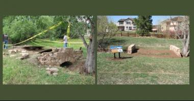 2011 Grant Recipient, Historical Preservation Category: Ken-Caryl Ranch Historical Society, Littleton, Colo. An early 20th Century stone bridge located on the historic Ken-Caryl Ranch was repaired and preserved through a Special Projects Grant. In addition to repairing holes, and replacing missing stones and capstones, the stream bed was cleared.
