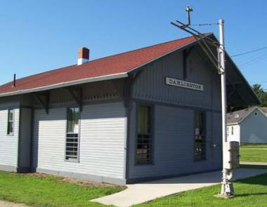 The Lafayette County Historical Society was awarded a grant to replace the roof of the Railroad Depot Museum in Darlington, WI. The Railroad Depot Museum collection includes: original payroll ledgers, large railroad maps from 1874, 1898, and 1906, telegrams, schedules and memorabilia which was found in the attic after the depot had been closed.