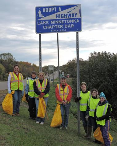 Lake Minnetonka Chapter, MN cleaned up the highway that the chapter has adopted through Adopt-A-Highway