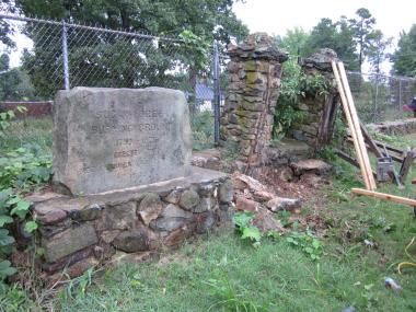 Grant Recipient, Historic Preservation Category: Mecklenburg Declaration of Independence Chapter, Charlotte, N.C. Historic stone columns at the circa 1750 cemetery located at the Sugaw Creek Presbyterian Church were in imminent danger of collapse. The columns are significant in Mecklenburg County history as they are near the burial place of Rev. Alexander Craighead, a vocal critic of the colonial government, who has been credited with inspiring the signers of the Mecklenburg Declaration of Independence.