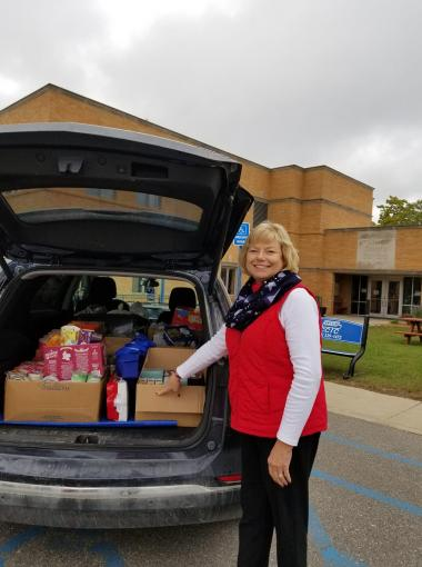 The Michilimacinac Chapter sponsored a canned food drive to stock the Veteran's Food Pantry of Clare County.