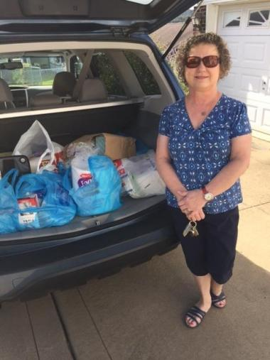 Monongahela Valley Chapter, PA donated toiletries and paper goods to the Pittsburgh VA Volunteer Services Unit