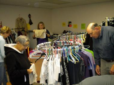 The Pack Horse Ford Chapter, WV helped out their local ministry by changing out the seasonal clothing in their crisis closet.