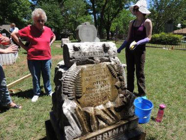 Grant Recipient, Historic Preservation Category: Tulsa Historical Society, Tulsa, Okla. Originally Creek Nation lands, the historic Perryman Cemetery is located in a busy residential and shopping area of Tulsa. The Tulsa Historical Society's project included replacing missing headstones, repairing damaged headstones, and creating a living history for the community.