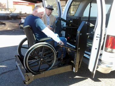 Grant Recipient: Patriotism, New Mexico Veterans Integration Centers,  Albuquerque, NM  With the aid of a DAR grant a lift gate for wheelchairs was purchased and installed on a NMVIC van, thus accommodating veterans in wheelchairs and with limited mobility.  With this lift-gate the program can support the transportation needs of veterans within the community.