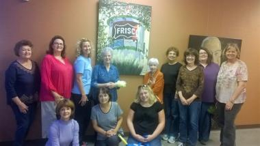 Preston Ridge Chapter, TX cleaned the exhibits in the Frisco Heritage Museum