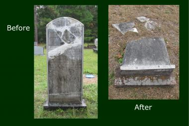 Grant Recipient, Historic Preservation Category: Rebecca Motte Chapter, NSDAR, Charleston, S.C. The St. Thomas and St. Denis Parish Church, last used for worship in 1925, and its cemetery suffer from years of neglect. Many headstones are beyond repair, and immediate action was necessary to save the remainder from the effects of the elements, tree and root intrusion, and biological and climate erosion.