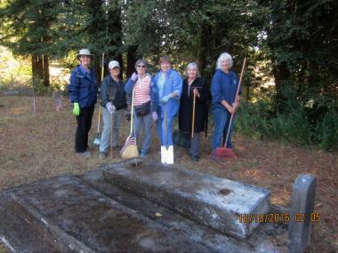 Redwood Forest Chapter, CA cleaned up the veterans section of the Blue Lake Cemetery