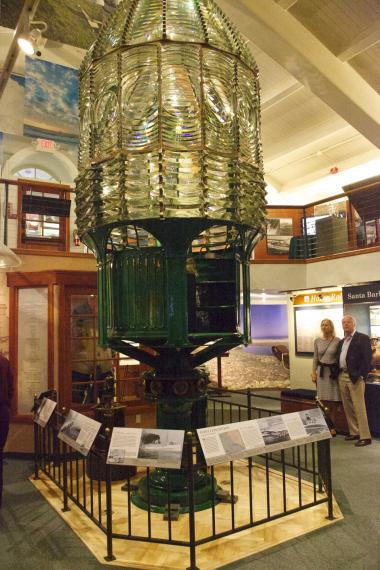 "Grant Recipient, Historic Preservation Category: Santa Barbara Maritime Museum, Santa Barbara County, Calif. Built in 1856, the Point Conception lighthouse is located on the headland known as the ""Cape Horn of the Pacific,"" which marks the western entrance to the Santa Barbara Channel. The specialized First Order Fresnel lens has been removed, restored, and displayed at the Santa Barbara Maritime Museum."