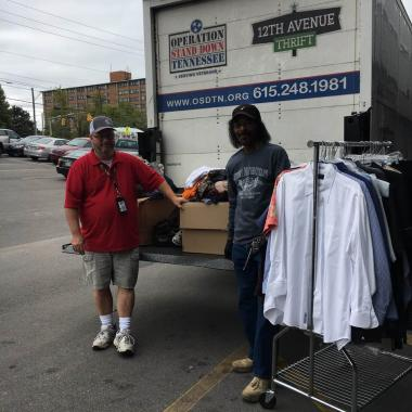 The Sarah Polk Chapter delivered these clothing items to Operation Stand Down Tennessee which focuses on helping all Veterans and their families by engaging, equipping, and empowering them.