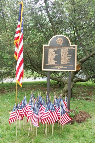 Grant Recipient, Patriotism Category: Jonathan Dayton Chapter, NSDAR, Dayton, Ohio Grant funding allowed the Jonathan Dayton Chapter to place a plaque memorializing 30 Revolutionary War soldiers whose graves are located in rural areas or family plots. The plaque is located in local Woodland Cemetery and Arboretum, one of the nation's oldest rural/garden cemeteries.