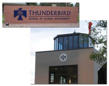 The DAR Anasazi Chapter, Glendale AZ sponsored a grant to restore the historic airfield control tower of the Thunderbird School of Global Management. This historic airfield served as an Army Air Corps training base during World War II in 1946.