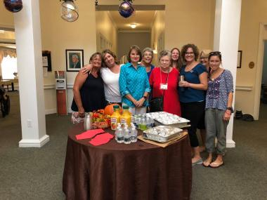 The Virginia Dare Chapter served breakfast to the staff at Spring Arbor Assisted Living.