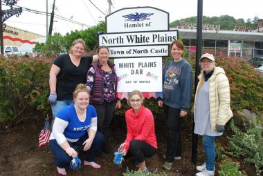White Plains Chapter, NY brought pruners, shovels, rakes, and gloves and cleaned up the Old Washington Oak Tree garden. This was a great opportunity for the Chapter to honor its past and to make a difference in our community.