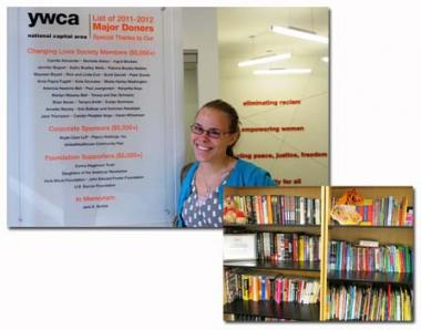 The YWCA National Capital Area, in Washington DC, received a DAR educational grant to purchase books for the Positive Transitions Student & Teacher Resource Library. The Positive Transitions program provides adult education and workplace literacy training to low-income women and men in Washington DC. The resource books purchased for the students focus on topics such as: parenting, searching for a job and preparing for college. Two bookshelves were also purchased to store the resources which are accessed dai