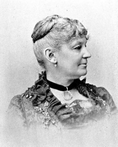 New Hampshire DAR is proud to have had twelve Vice Presidents General serving the National Society. The first was Sarah White Cheney, who served from 1899-1900. Mrs. Cheney was the wife of former Governor and US Senator Person Colby Cheney of Manchester. Mr. Cheney later served as US Minister to Switzerland. Mrs. Cheney's family came to America in 1636. Born in 1828, she was the daughter of Jonathan White and Sarah Bathrick Goss. She had five ancestors who served in the American Revolution. Her father was o