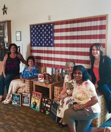 Conejo Valley DAR donating table books, music CD's for #DARDayofService to #CalVets Ventura!