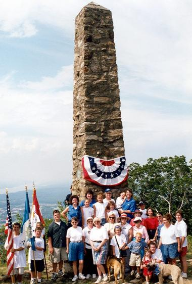 More than 600 people climbed to the top of Mount Beacon in Dutchess County, NY, in 2000 for the centennial rededication of Melzingah Chapter's 1900 monument to the Revolutionary War Patriots who had manned signal fires there during the war. It's a great example of DAR's important work to preserve the memory and spirit of the men and women who won America's independence. Please share examples of the historic preservation work that your chapter has accomplished since its founding!