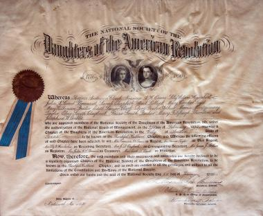 The Thankful Hubbard Chapter Daughters of the American Revolution was founded in 1899, one of the first five chapters in Texas. The chapter was named for the great-grandmother of Florence Anderson Clark, the first State Regent of Texas and an organizing member of the chapter.