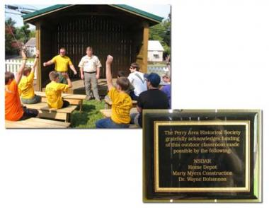 A Special Project Grant helped the Perry Area Historical Museum build an outdoor classroom in Perry, GA. The outdoor classroom provides educational programs for youth and families on farm equipment and agriculture tools and practices, Perry Pioneer Days, Native American heritage, Georgia heritage and military history.
