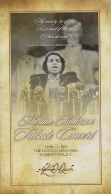 Marian Anderson Tribute Concert, April 12, 2009.
