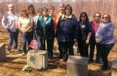 The Shawnee Fort Chapter located in Plymouth, held a graveside service to honor Katharine Searle McCartney on the Centennial of her death. Katharine McCartney was a charter member of the National Society and organized the first chapter in Pennsylvania in Wilkes-Barre in April 1891. She served as Chapter Regent for 23 consecutive years. She was an instrumental member of the DAR Hospital Corps. and received special recognition for her services in sending the first 6 nurses to the Spanish American War. She wa