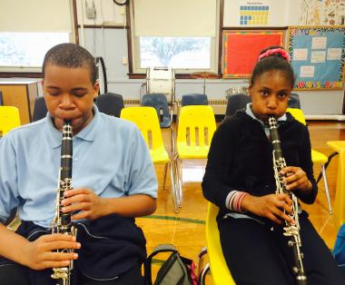 Grant Recipient, Education category:  Schools Count Corp., Mokena, IL Brass instruments were contributed to allow eager students to learn through four classes each week.   The students look forward to performing for school assemblies and community residents with their band's debut spring concert.