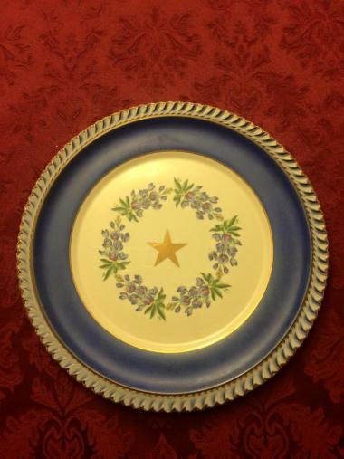 Commemorative plate celebrating the 50th Anniversary of the Texas Society DAR.